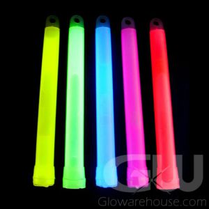 "Assorted Color 6"" Glow Sticks Bulk Pack"