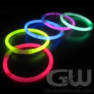 8 Inch Standard Glow Bracelets - Assorted Colors