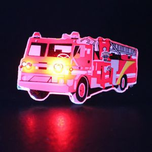 Fire Truck Light Up Lapel Pin Body Light