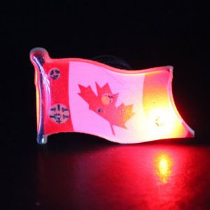Canada Flag Light Up LED Lapel Pins Body Lights