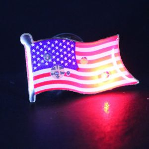 American Flag Flashing Pins