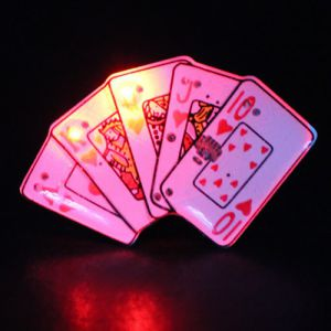 Royal Flush Flashing Pin Body Lights