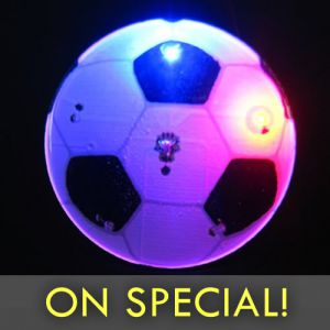 Glowing Led Soccer Balls With Orange Light Glowarehousecom