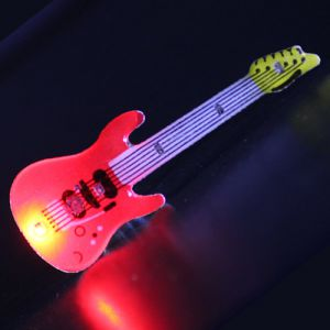 Guitar Flashing LED Lapel Pin Body Lights
