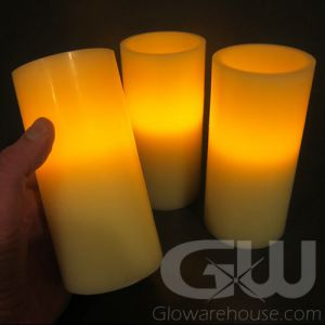 6 Inch LED Flameless Pillar Candles