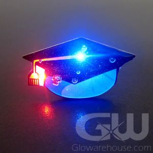 Light Up Grad Hat Body Light Flashig Pins