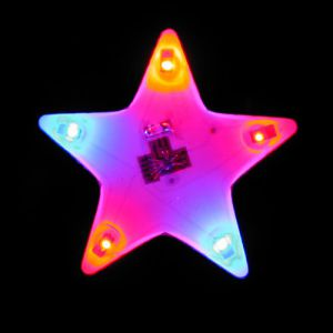 Flashing Star Light Up LED Lapel Pins Body Lights
