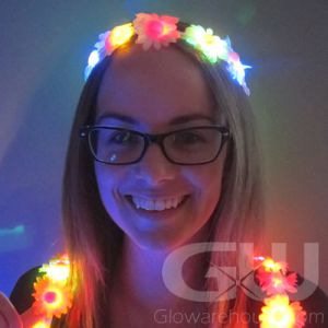 Light Up Floral Headband