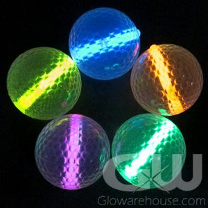 Glowing Golf Balls Assorted Color Mix