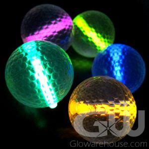 Glowing Golf Balls with Glow Insert