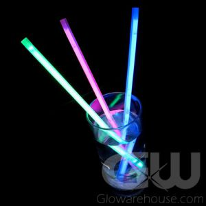 Glowing Drink Straws