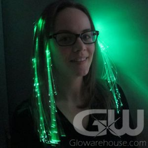 Glowing Green Hair Extensions
