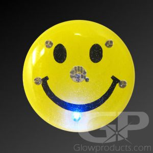 Happy Face Flashing Pin Body Lights