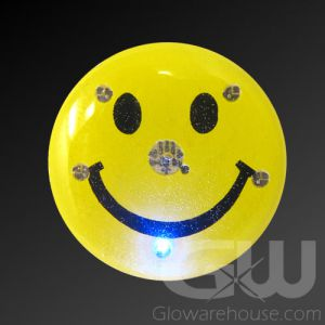 Happy Face Body Light Flashing Pin