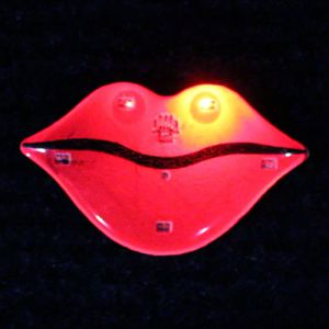 Glowing Lips Flashing PIn
