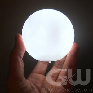 Glowing Orb White Light Lamp