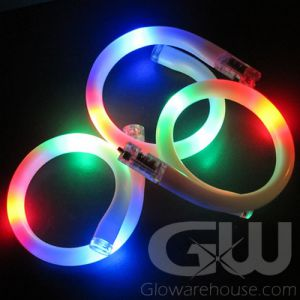 Battery Glow Bracelets Flashing Colors