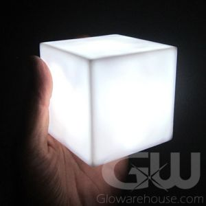 Cube LED Lamp with White Light