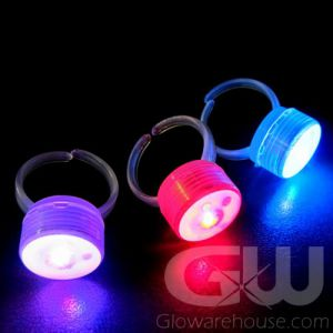 Color Changing LED Glow Finger Rings