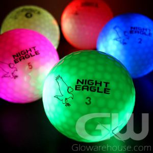 Lighted LED Glowing Golf Balls