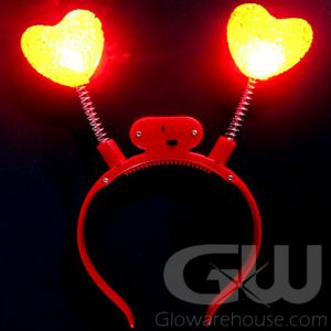 Glow Heart Head Boppers