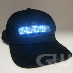 Light Up LED Message Baseball Cap