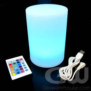 Glowing Pillar LED Light Lamp with Remote