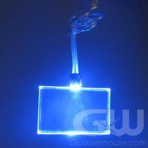 Glowing Pendant Necklace with Rectangle Shape