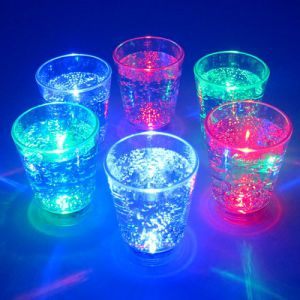 Flashing LED Light Up Shot Glasses Mixed Colors