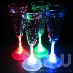 Lighted Glow Champagne Glasses - Single Colors
