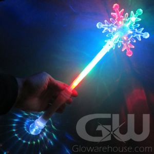 Glowing LED Snowflake Wand