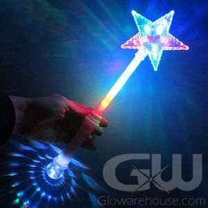 Glowing LED Light Star Wand