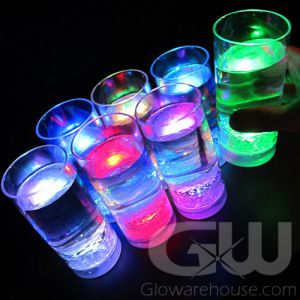 Glowing LED Drink Glasses with 8 Color Modes