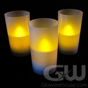 Flameless LED Candles with Votive