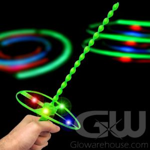 Light Up LED Whirly Flyer Propeller Toy