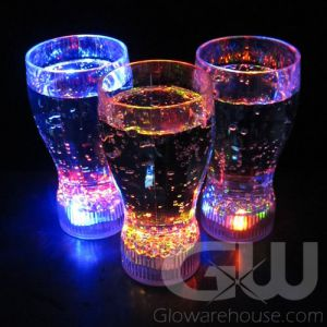 Glowing Drink Glasses with Flashing LED Lights