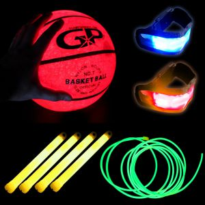 Light Up Basketball Glowing Sports Combo Pack