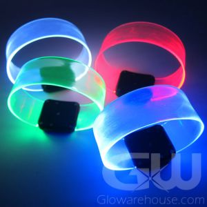 LED Glowing Bracelets with Magnetic Clip
