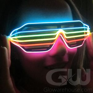 Glowing Rainbow Glasses Light Up