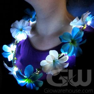 Glowing LED Flower Leis