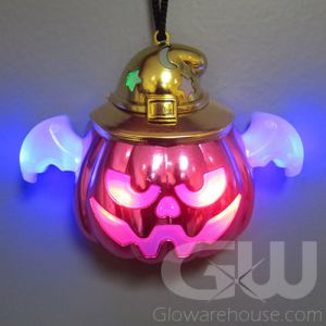 LED Light Pumpkin Necklace Pendant