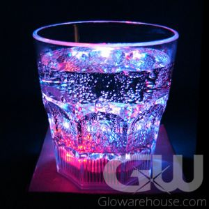 Glow LED Rock Glass