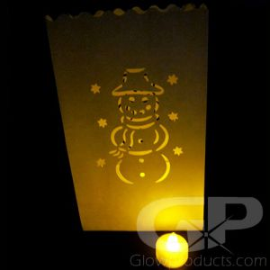 Luminary Bags with Tea Lights - Snowman