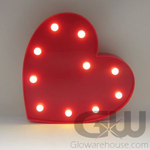 LED Heart Marquee Light