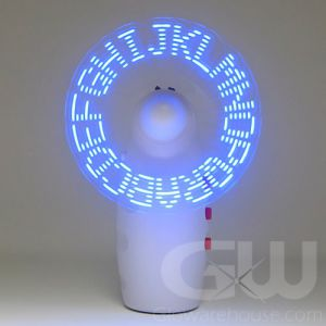 Glow LED Pocket Fan with Message