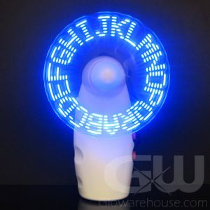 LED Light Up Message Pocket Fan