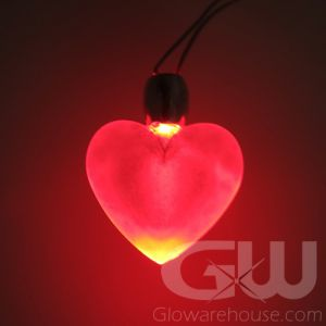 LED Heart Glow Pendants
