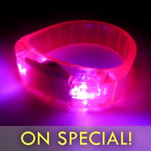 Pink LED Bangle Bracelets with 5 Hour Glow
