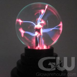 Glowing Plasma Lamp Ball Orb