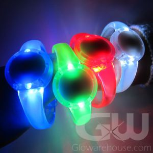 LED Glow Bracelets with Round Face